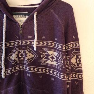 Billabong tribal aztec print zip up hoodie